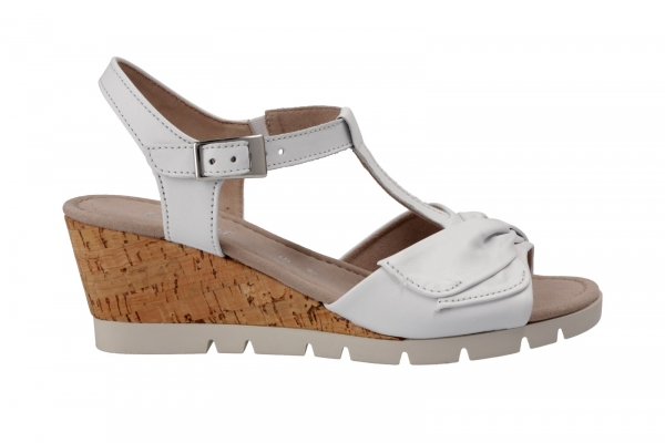 Comfort Damen Gabor Keilabsatz kork Weiss Sandaletten In Sandale dBxwBUz