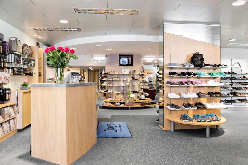 Ladeninneraum Schuh Sommer - Kassenbereich